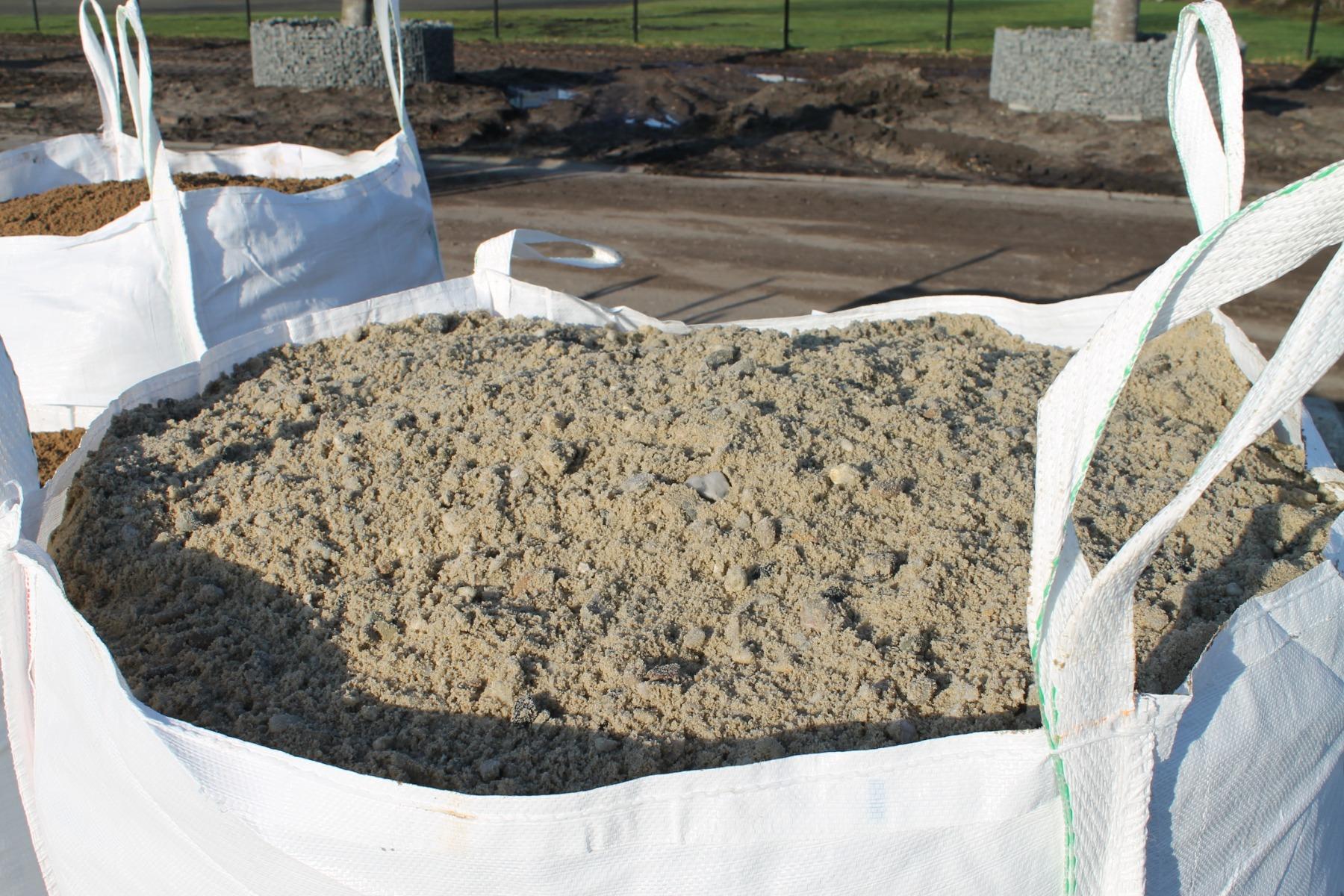 Kiessand 0-16mm und Zement fur Beton