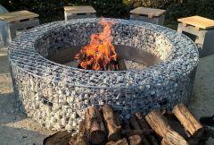 Gabionen Feuerstelle xl
