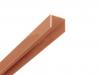 Alu U-Profil Braun 2 Meter lang inkl. 2 Verbinder