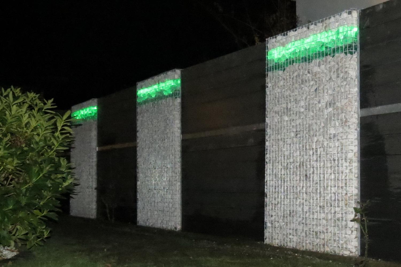 LED Beleuchtung für Gabionen
