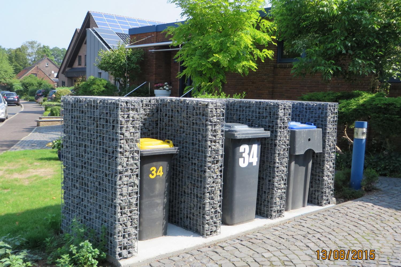Gabionen Mülltonnenbox nach Mass
