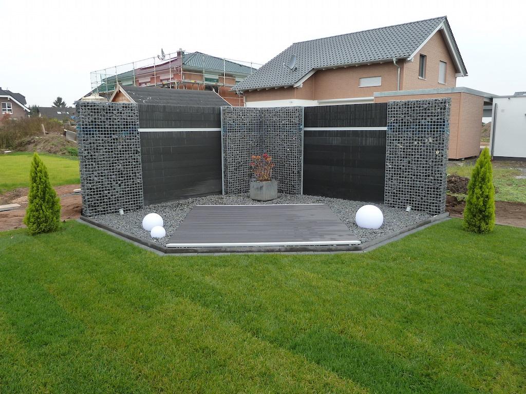 WPC-Gartenzaun-Set  200cm lang