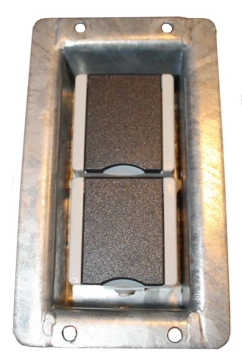 Steckdose für Gabionen