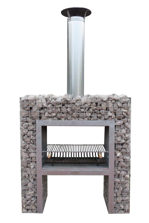 Steinkorb Block-Kamin Grill