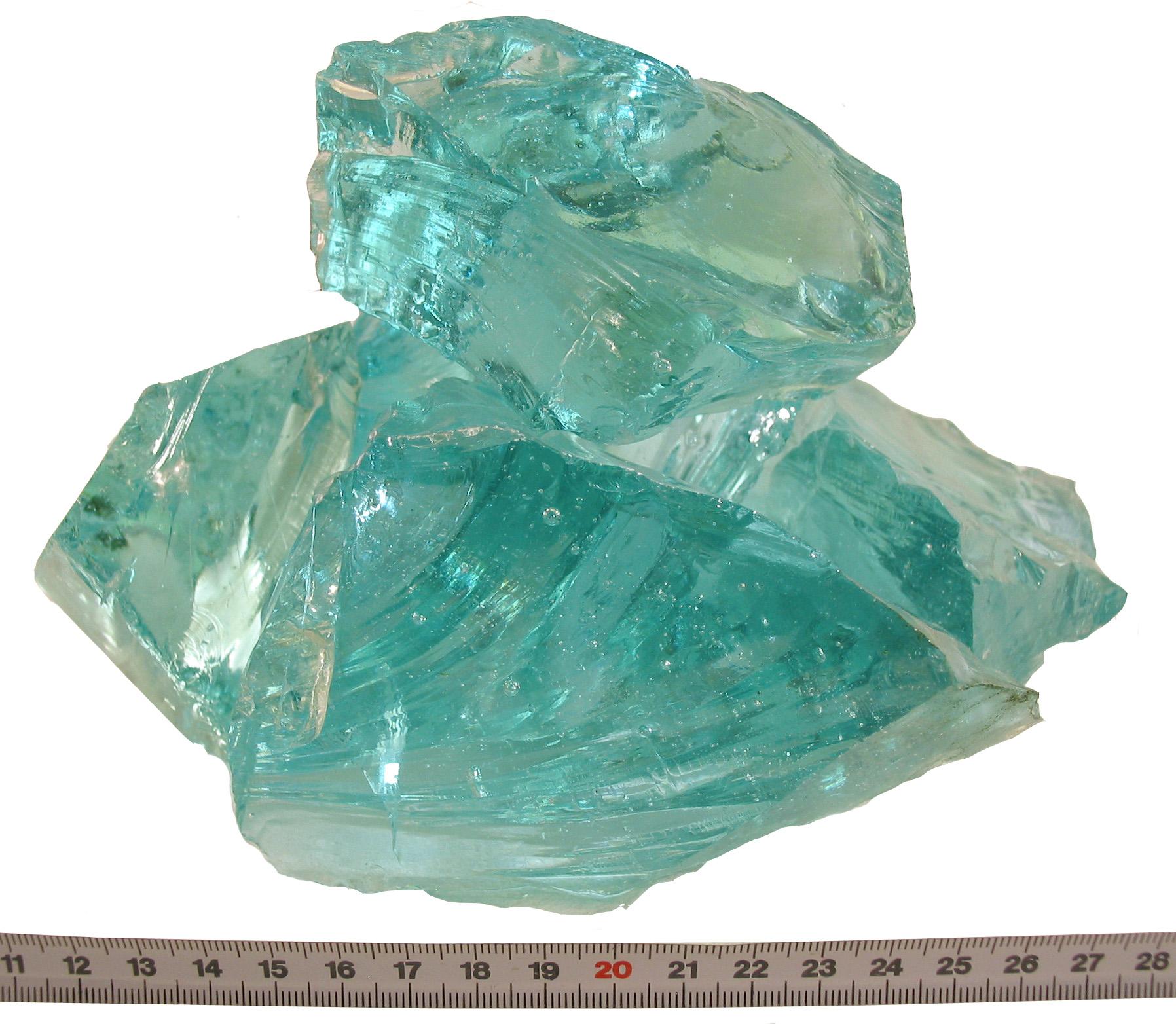 Glas-Brocken Tuerkis 80-120mm