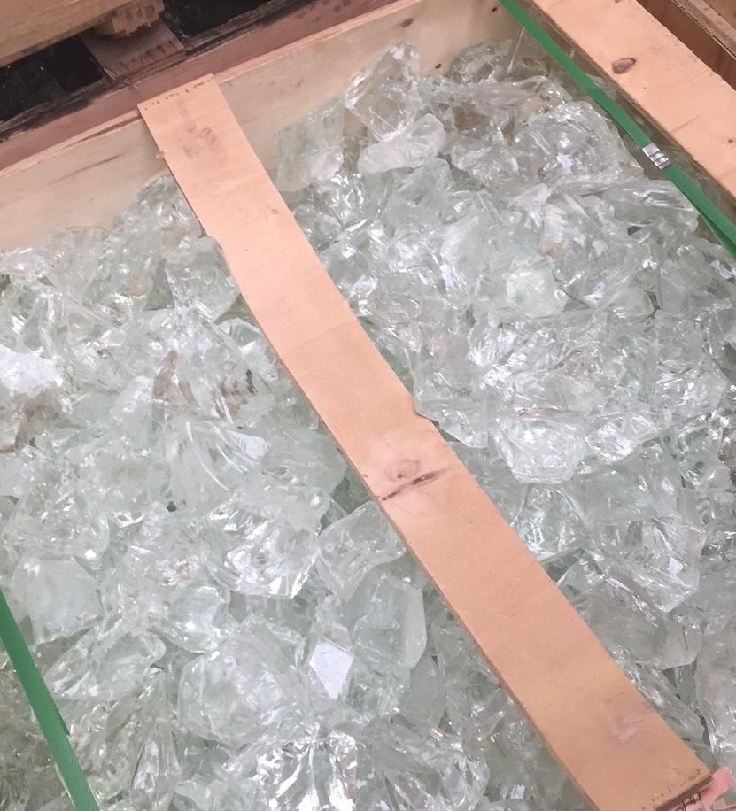 Glas Kristall Holzkiste