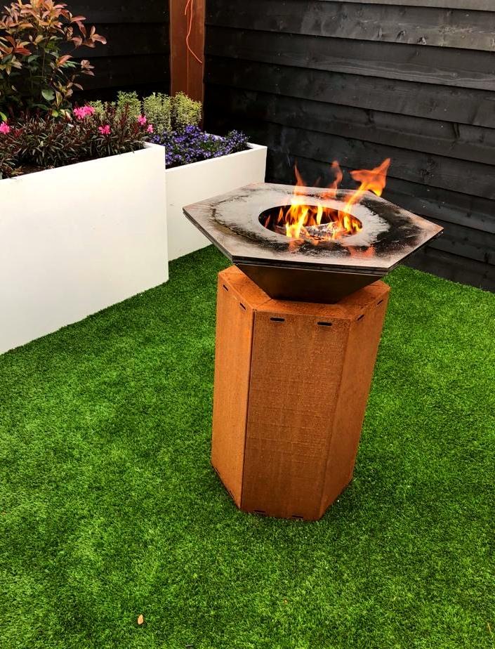 Iron Fire 750 Cortenstahl-Feuertisch