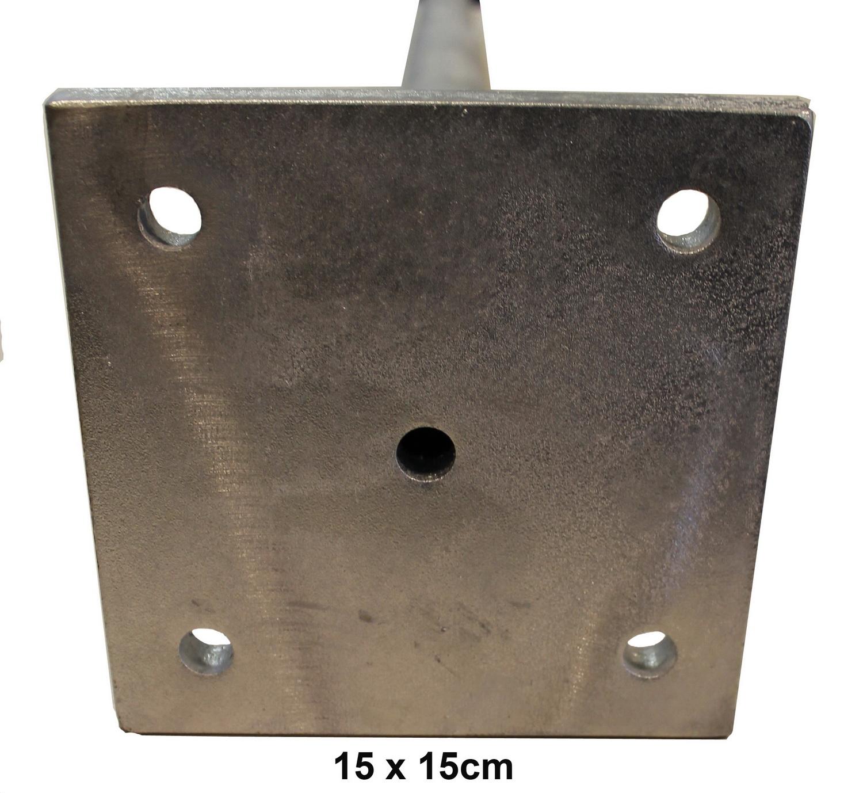 Stützpfosten mit Standfuß Platte